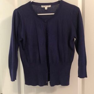 Cabi 283 blue button down cardigan size small
